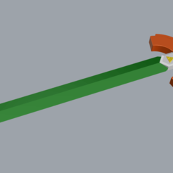 "Box Art Sword.png Download STL file Box Art Sword from ""Legend of Zelda: Link's Awakening""  • 3D printable object, Gemenon-Prop-Replicas"