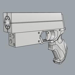 """01.jpg Télécharger fichier STL Pistolet émetteur de faisceau gravitationnel de """"BLAME ! • Design pour impression 3D, Gemenon-Prop-Replicas"""