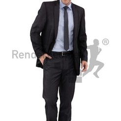 Download free 3D printing models Dennis Posed 004 - Standing Business Man Smiling, Renderpeople