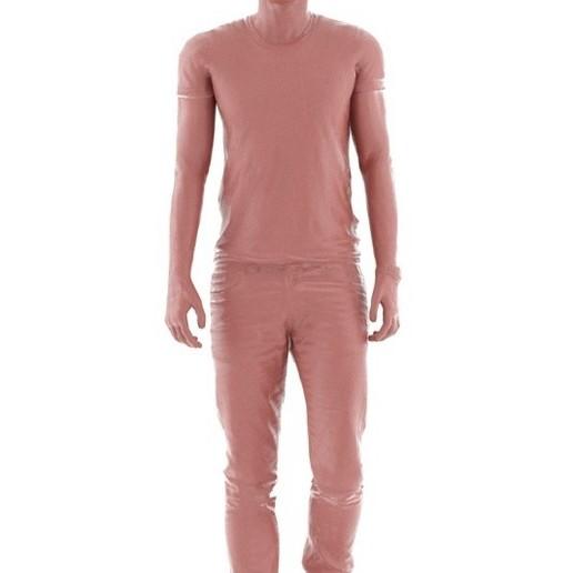 rp_nathan_animated_003_walking_D.jpg Download free STL file NATHAN ANIMATED 003 WALKING - CASUAL WALKING 3D PEOPLE MODEL • 3D printable template, Renderpeople