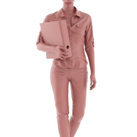 rp_mei_posed_001_D.jpg Download free STL file Mei Posed 001 - Standing Office 3D Women holding Binder • Template to 3D print, Renderpeople