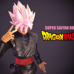 Download STL files Super Saiyan Rose, adand7print3dt1000