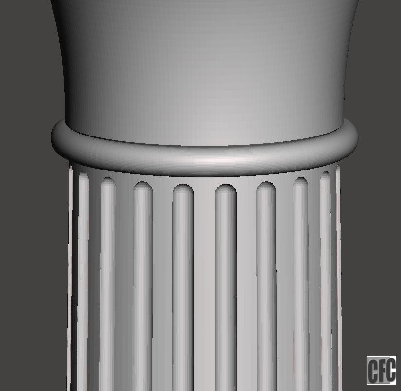shaft.JPG Download free OBJ file Greek column • 3D print model, CadForCam