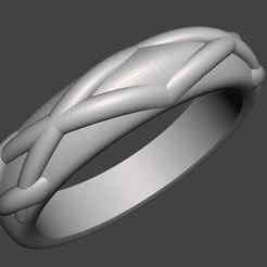 Free 3D print files collection of rings for printing, CadForCam
