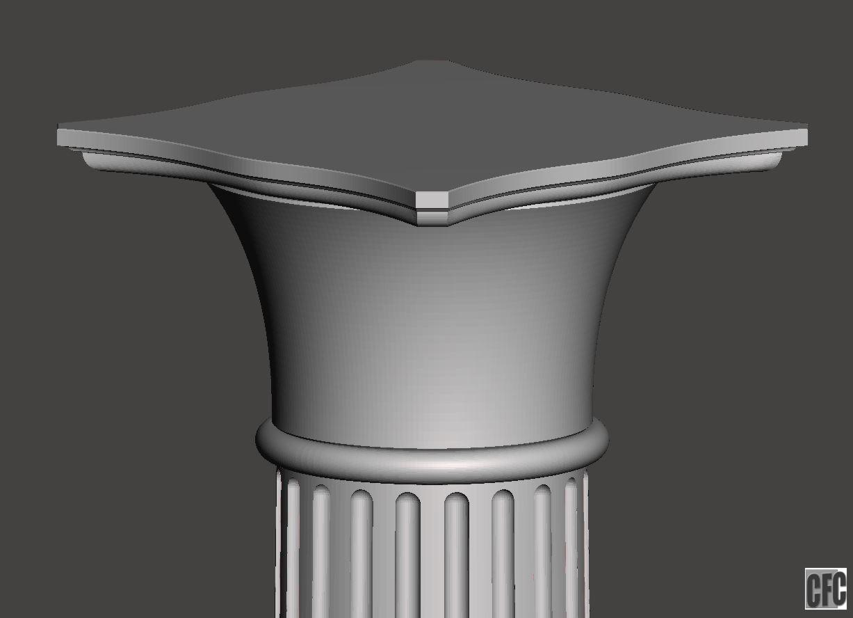 capital.JPG Download free OBJ file Greek column • 3D print model, CadForCam
