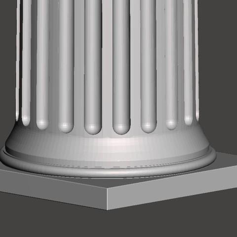 Modelos 3D para imprimir gratis Columna griega, CadForCam