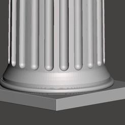 Download free 3D printer files Greek column, CadForCam