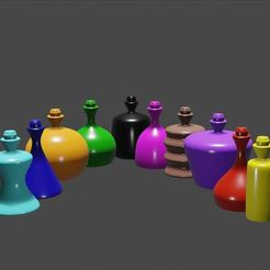 Download 3D printing files Potions Pack 1, TheFreshPrintsFromThinAir