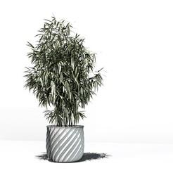 Télécharger modèle 3D gratuit Pot de fleur torsadé, dklopotek