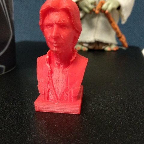 Free 3D printer model Han Solo Bust, nomanatechmx