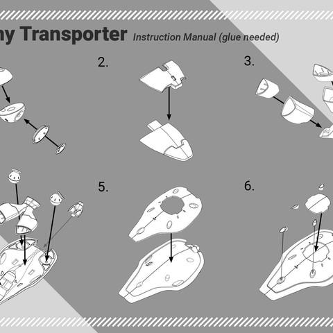 instruction.jpg Download free STL file Colony Transporter model kit 1:72 • 3D printable template, 77LEE77