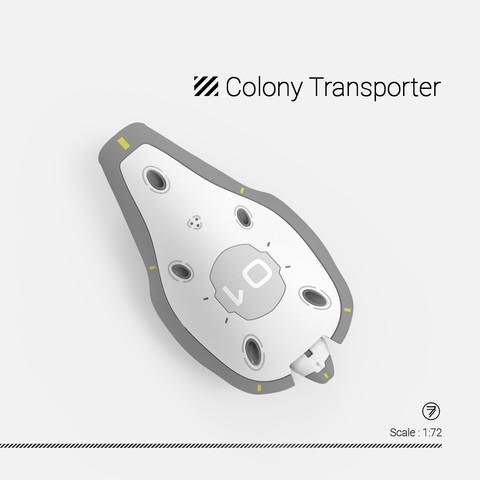 poster 3.jpg Download free STL file Colony Transporter model kit 1:72 • 3D printable template, 77LEE77