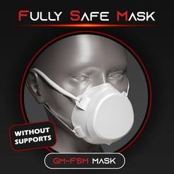 promo_01_-_presentation.jpg Download STL file Fully Safe Mask (direct spray protection) • 3D printable template, Gizmil