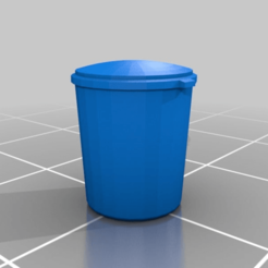 Descargar archivos STL gratis 15mm Basurero de plástico, drholdsworth