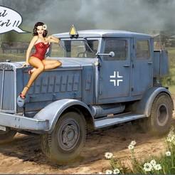 Descargar modelo 3D gratis Hanomag SS-100 Tractor de carretera pesado de la Segunda Guerra Mundial alemán, drholdsworth