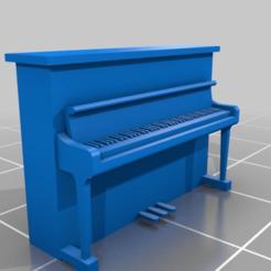 Impresiones 3D gratis Piano vertical genérico en escala HO, drholdsworth
