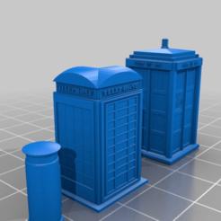 Impresiones 3D gratis 15mm 1935 K2 Cabina telefónica, buzón real de correos y TARDIS tipo 40, drholdsworth