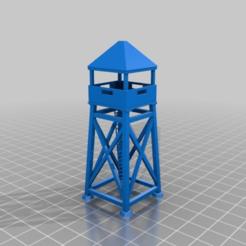 Imprimir en 3D gratis Guardia de madera o torre de observación, drholdsworth
