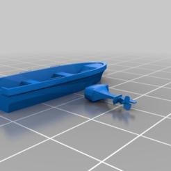 Descargar modelo 3D gratis Un simple barco y un fuera de borda, drholdsworth