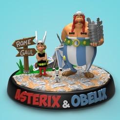 Muestra1.jpg Télécharger fichier STL Diorama Astérix & Obélix • Design pour impression 3D, NachoRoPe