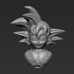 3d print files Kid goku, NachoRoPe