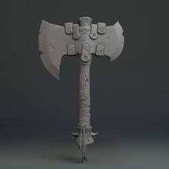 untitled.jpg Télécharger fichier STL gratuit Hache viking • Modèle pour imprimante 3D, jonathantorres295