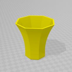 3D printing model Octagonal pot, Spyn3D