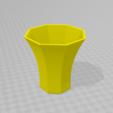 Download STL files Octagonal pot, Spyn3D