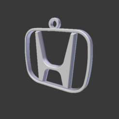 3D printer files Key ring Honda logo, Spyn3D