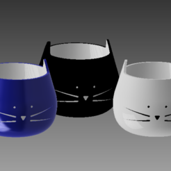 Download STL CAT POT, Spyn3D