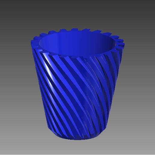Télécharger fichier imprimante 3D Pot hélicoïdal, Spyn3D