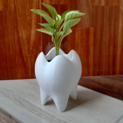 Download 3D printing templates TOOTH POT TOOTH VASE, Spyn3D