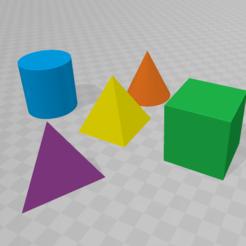 3D print model Geometric solids, Spyn3D