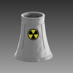 planta nuclear-11.png Download STL file COOLING TOWER NUCLEAR PLANT • 3D print design, Spyn3D