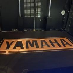 20200921_232247.jpg Télécharger fichier STL gratuit Logo du texte Yamaha • Design pour imprimante 3D, Josefbouzgarrou