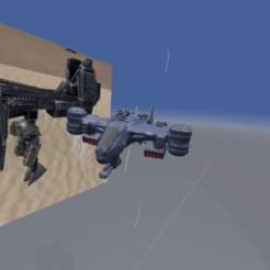 gun 2 fix.png Download 3MF file  Supreme Commander UEF T2 Gunship • 3D printing design, Josefbouzgarrou