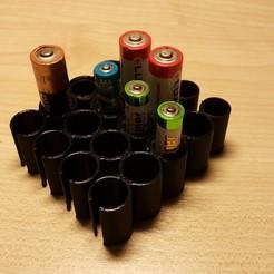 Télécharger fichier STL organiseur de batterie, lm80