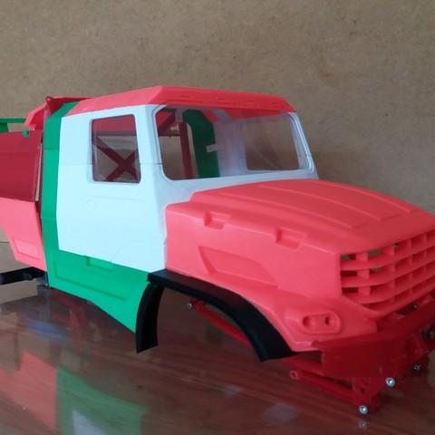 3D printed Kamaz Dakar (Mercedes Zetros) NEW VERSION cockpit and