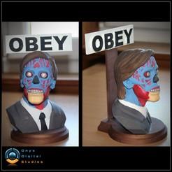 Télécharger fichier 3D Ils vivent la pose du buste 02 - OBEY, OnyxDigitalStudios