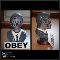 Télécharger fichier imprimante 3D Ils vivent la pose du buste 01 - OBEY, OnyxDigitalStudios