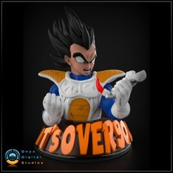Download 3D printer designs Vegeta Over 9000, OnyxDigitalStudios