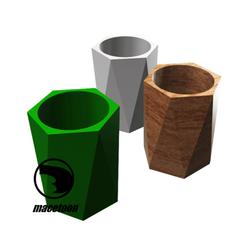 Imagen6.png Download STL file HEXAGONAL POT • 3D printable object, DIEGOMAKER