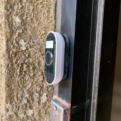 Download free STL files Arlo Doorbell Wall mount base, bruckerm