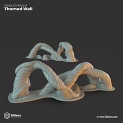3d printer files Thorned Wall, 3DHexes