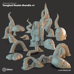 STL Tangled Realm Bundle #1, 3DHexes