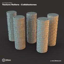 3d printer files Texture Rollers – Cobblestones, 3DHexes