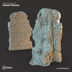 STL Trône Vined Throne, 3DHexes