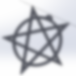 pentagram.STL Download STL file Pentagram jewel • Template to 3D print, LeSkin