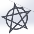 Bez názvu.png Download STL file Pentagram jewel • Template to 3D print, LeSkin