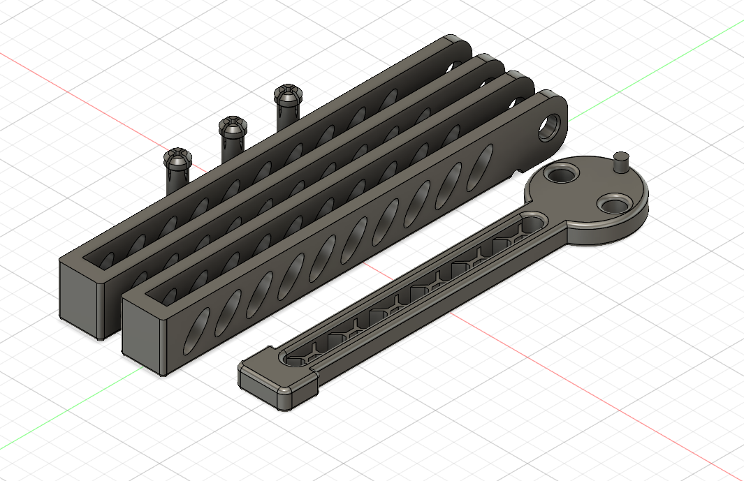 Model Pic.png Download free STL file Advanced Balisong Trainer • Template to 3D print, Serial